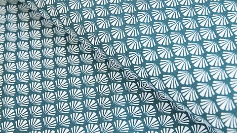 Baumwollstoff blau: Muscheln - 140 cm kaufen im Makerist Materialshop