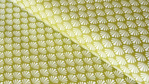 Baumwollstoff khaki: Muscheln - 140 cm kaufen im Makerist Materialshop