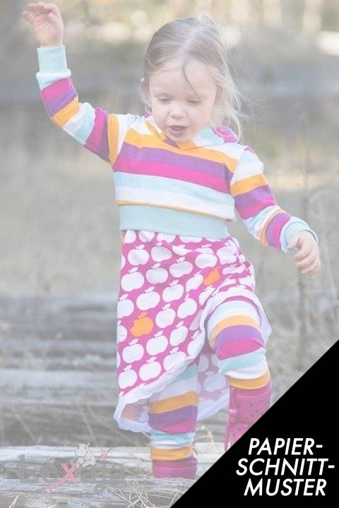 """Gedrucktes Schnittmuster für: Shorthoodie """"Miss Hoodels"""" von Lennähna Größen 86 - 170 kaufen im Makerist Materialshop"""