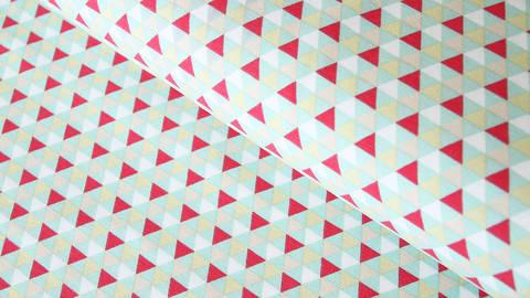Baumwolljersey mint: Dreiecke - 150 cm kaufen im Makerist Materialshop