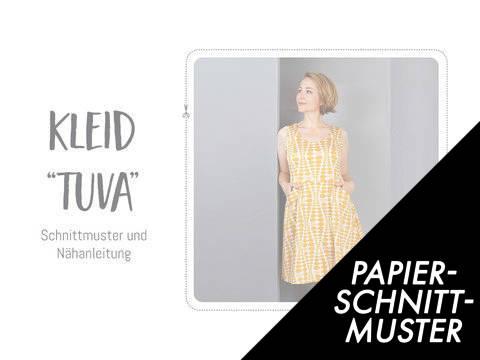 """Gedrucktes Schnittmuster für: Kleid """"Tuva"""" Schnittmuster kaufen im Makerist Materialshop"""