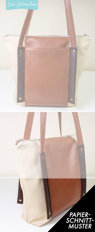 Gedrucktes Schnittmuster für: Handtasche Hilda kaufen im Makerist Materialshop