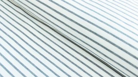 Grau-weiß gestreifter Cotelé Jersey - 145 cm kaufen im Makerist Materialshop