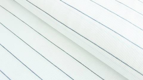 Grau-weißer Cotelé Jersey: Dünne Streifen - 145 cm kaufen im Makerist Materialshop