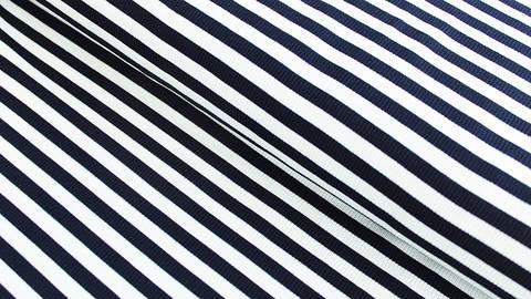 Navy-weißer Cotelé Ringeljersey - 145 cm kaufen im Makerist Materialshop
