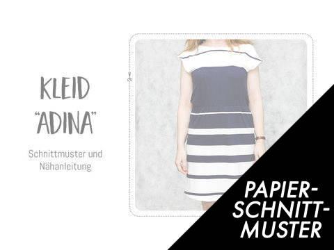"""Gedrucktes Schnittmuster für: Kleid """"Adina"""" Schnittmuster kaufen im Makerist Materialshop"""