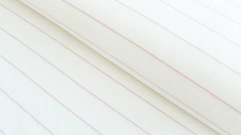Rosa-weißer Cotelé Jersey: Dünne Streifen - 145 cm kaufen im Makerist Materialshop