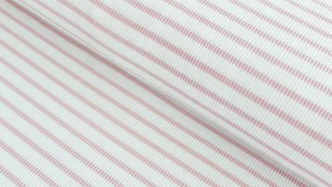 Rosa-weiß gestreifter Cotelé Jersey - 145 cm kaufen im Makerist Materialshop