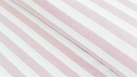 Rosa-weißer Cotelé Jersey: Breite Streifen - 145 cm kaufen im Makerist Materialshop