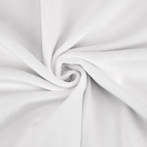 """Kuschelweicher Microfaserplüsch """"SHORTY"""" von kullaloo - weiß kaufen im Makerist Materialshop"""