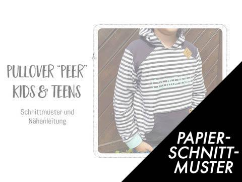 """Gedrucktes Schnittmuster für: Pullover """"Peer"""" für Kinder & Teens kaufen im Makerist Materialshop"""