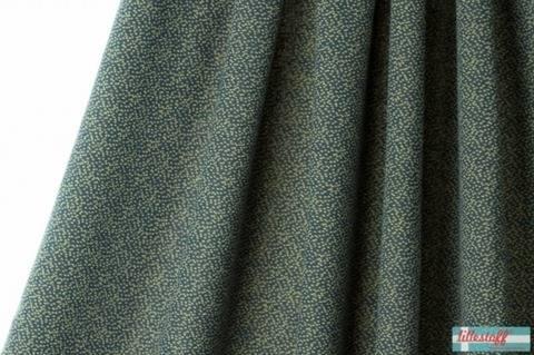 Dunkelblau-gelber Jacquard lillestoff: Dotties - 170 cm kaufen im Makerist Materialshop