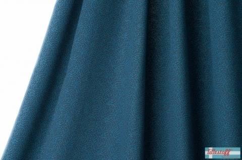 Dunkelblau-taubenblauer Jacquard lillestoff: Dotties - 170 cm kaufen im Makerist Materialshop