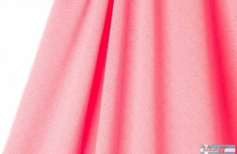 Pink-orangefarbener Jacquard lillestoff: Dotties - 160 cm kaufen im Makerist Materialshop