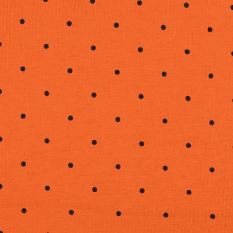 Punkte Jersey orange/schwarz kaufen im Makerist Materialshop