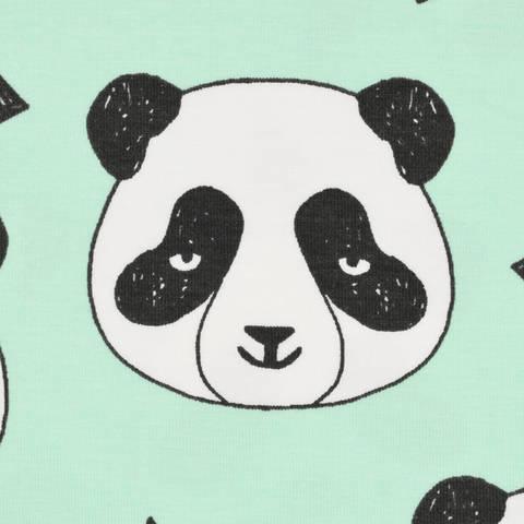Biojersey Panda mint kaufen im Makerist Materialshop