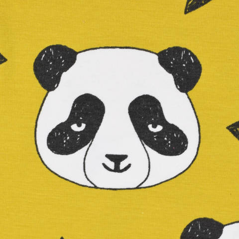 Biojersey Panda senf kaufen im Makerist Materialshop