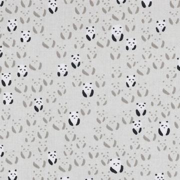 Cotton and Steel - Paper Bandana Pandabär grau