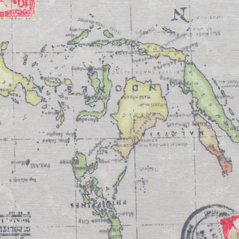 Canvas Weltkartenstoff natur kaufen im Makerist Materialshop