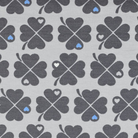 Jersey by Graziela Glücksklee grau-grau kaufen im Makerist Materialshop