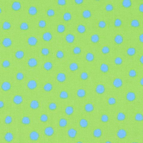 Westfalenstoffe Junge Linie Punkte grün/blau kaufen im Makerist Materialshop