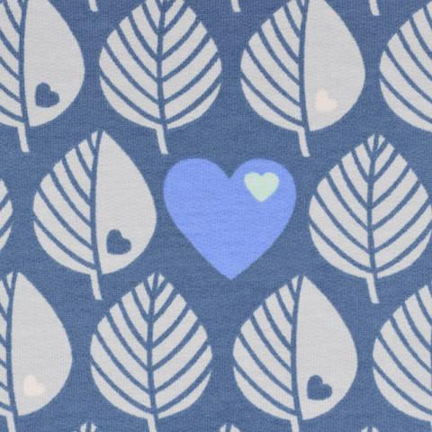 Sweat by Graziela Blätter blau kaufen im Makerist Materialshop