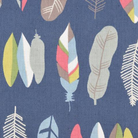 KOKKA Tréfle Federn blau kaufen im Makerist Materialshop
