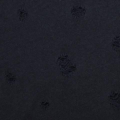 Sweat mit Löchern used look - schwarz kaufen im Makerist Materialshop
