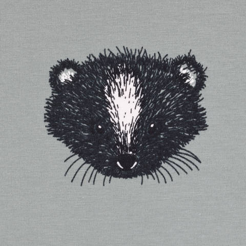 Biojersey Skunk Stinktier olive kaufen im Makerist Materialshop