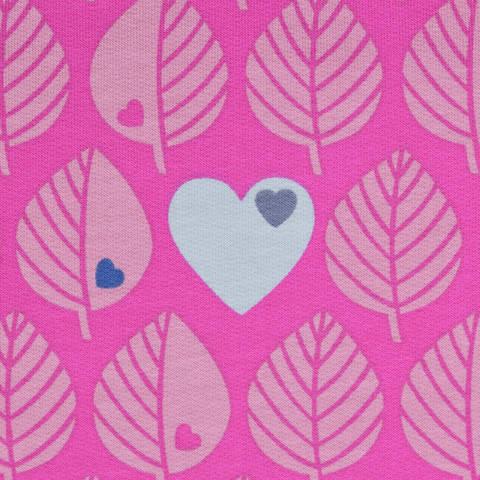 Sweat by Graziela Blätter pink kaufen im Makerist Materialshop