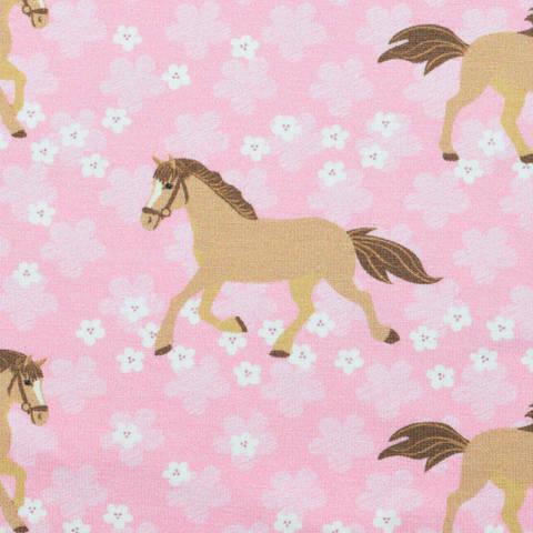 Hilco Jersey Horses on Flowers - Pferd kaufen im Makerist Materialshop