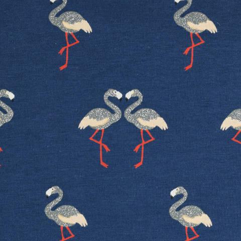 Jersey Flamingo marine glitzer kaufen im Makerist Materialshop