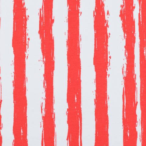 Sweat French Terry Streifen rot kaufen im Makerist Materialshop