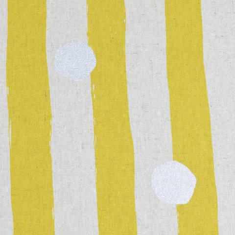 Echino for KOKKA Streifen senf silber kaufen im Makerist Materialshop