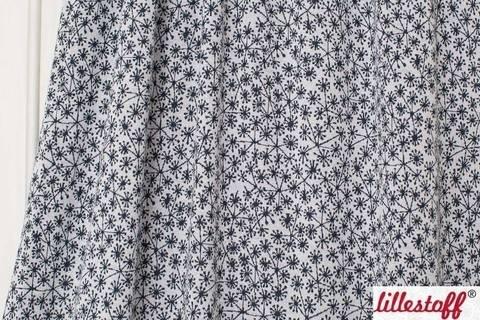 Weiß-dunkelblauer Jacquard lillestoff: Pusteblumen - 130 cm kaufen im Makerist Materialshop