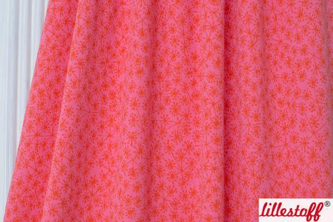 Pink-orangefarbener Jacquard lillestoff: Pusteblumen - 130 cm kaufen im Makerist Materialshop
