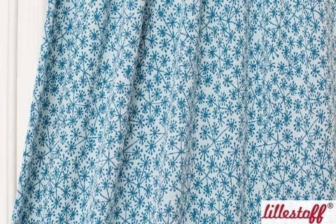 Hellblau-taubenblauer Jacquard lillestoff: Pusteblumen - 130 cm kaufen im Makerist Materialshop