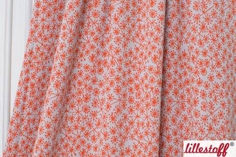 Hellblau-orangefarbener Jacquard lillestoff: Pusteblumen - 130 cm kaufen im Makerist Materialshop