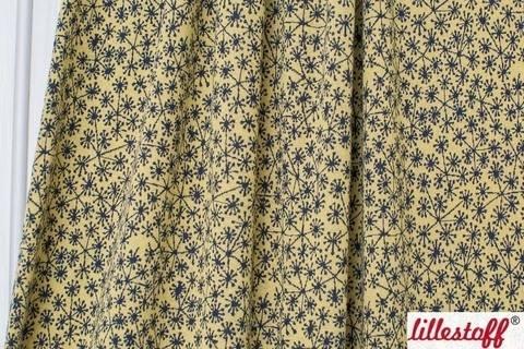 Bamboo-dunkelblauer Jacquard lillestoff: Pusteblumen - 130 cm kaufen im Makerist Materialshop