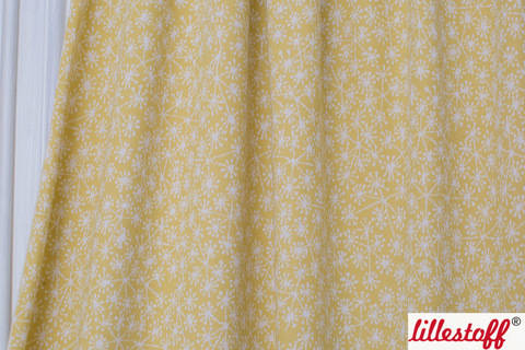 Bamboo-weißer Jacquard lillestoff: Pusteblumen - 130 cm kaufen im Makerist Materialshop