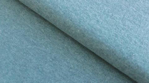 Bündchenstoff rauchblau meliert: Heike - 95 cm kaufen im Makerist Materialshop
