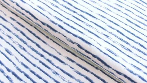 Weiß-blauer Jersey: Avalana Streifen - 162 cm kaufen im Makerist Materialshop