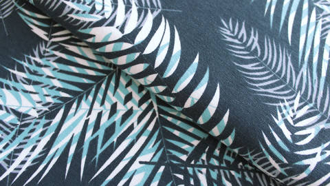 Baumwolljersey dunkelgrau bedruckt: Avalana Palmen - 162 cm kaufen im Makerist Materialshop