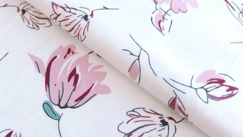 Acheter Jersey coton imprimé: fleurs d'Avalana - 162 cm dans la mercerie Makerist