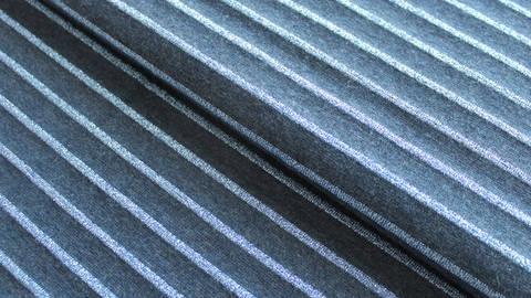 Baumwolljersey dunkelblau Melange: Glitzer Streifen - 150 cm kaufen im Makerist Materialshop
