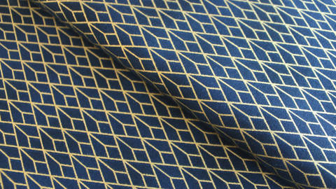Acheter Tissu en coton bleu foncé: Golden Geometry - 112 cm dans la mercerie Makerist
