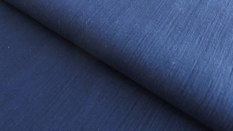 Navyblauer Uni Baumwollstoff: Fältchen - 127 cm kaufen im Makerist Materialshop