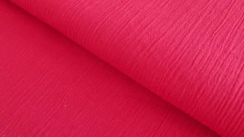 Roter Uni Baumwollstoff: Fältchen - 127 cm kaufen im Makerist Materialshop