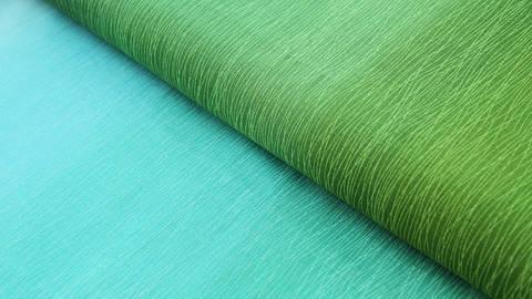 Grün-blauer Baumwollstoff: Regenbogen - 112 cm kaufen im Makerist Materialshop