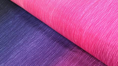 Pink-lilafarbener Baumwollstoff: Regenbogen - 112 cm  kaufen im Makerist Materialshop
